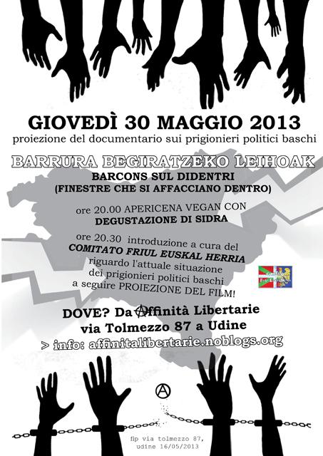 Cineforum solidale con i prigionieri politici baschi