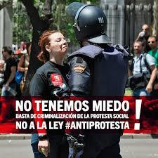 non abbiamo paura ! Basta con la criminalizzazione della protesta sociale ! NO alla legge anti-protesta !
