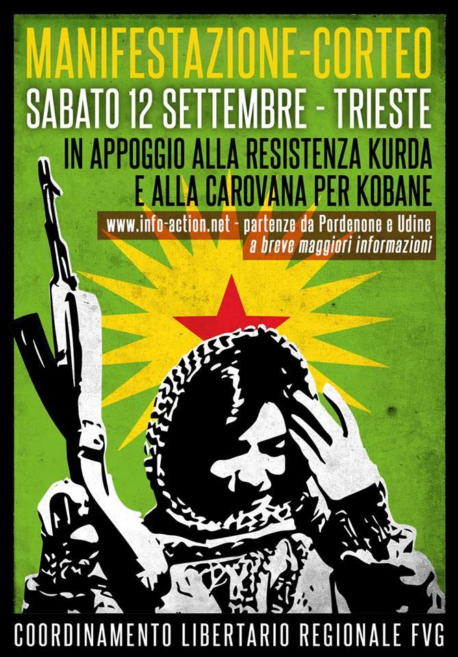 manifestazione curdi trieste
